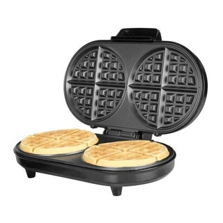 Kalorik Black Stainless Steel Double Belgian Waffle Maker