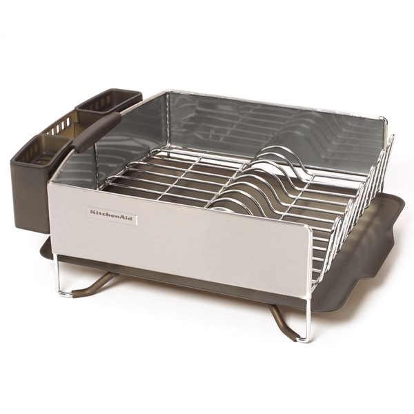 kitchen aid stainless steel panel dish rack gray free
