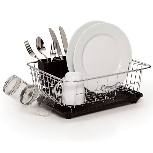 51ad63f00398 Shop Farberware Classic Compact Dish Rack Black - Free Shipping On Orders  Over $45 - Overstock - 11416291