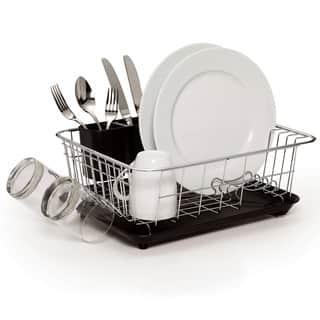 Farberware Classic Compact Dish Rack Black|https://ak1.ostkcdn.com/images/products/11416291/P18379702.jpg?impolicy=medium