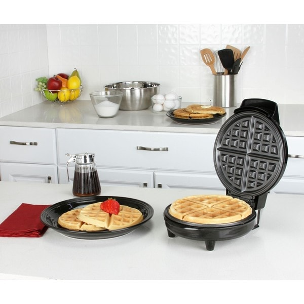 Kalorik Traditional Black Stainless Steel Belgian Waffle Maker