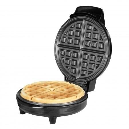 Kalorik Traditional Black Stainless Steel Belgian Waffle Maker