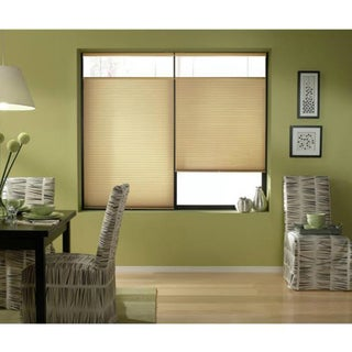 Cordless Top Down Bottom Up Cellular Shades in Leaf Gold (50 to 50.5 Inches Wide)