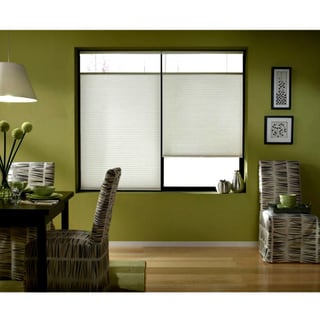 First Rate Blinds Cordless Top Down Bottom Up Cellular Shades In Cool White (50 to 50.5 Inches Wide)