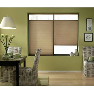 First Rate Blinds Cordless Top Down Bottom Up Cellular Shades in Antique Linen (48 to 48.5 Inches Wide)