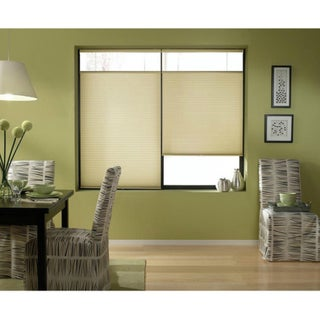 Cordless Top-down Bottom-up Ivory Beige Cellular Shades 47 to 47.5-inch Wide