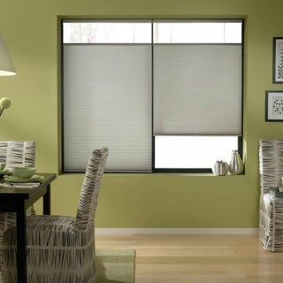 First Rate Blinds Cordless Top Down Bottom Up Cellular Shades in Silver (47 to 47.5 Inches Wide)
