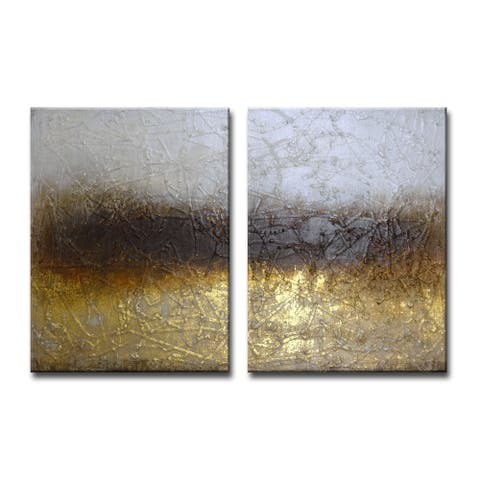Shadow Field' by Norman Wyatt Jr. 2-Piece Wrapped Canvas Art Set
