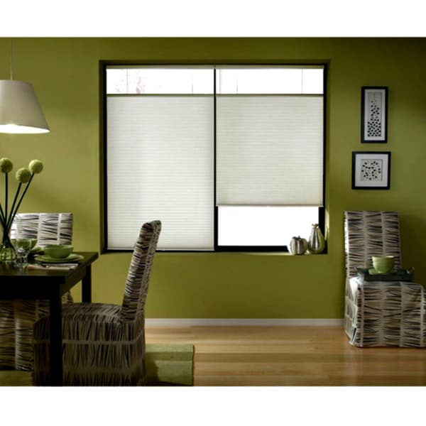 shop first rate blinds cordless top down bottom up cellular shades in cool white 46 to 46 5. Black Bedroom Furniture Sets. Home Design Ideas