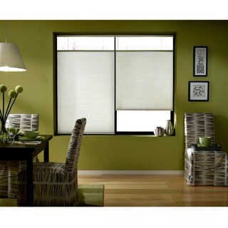 First Rate Blinds Cordless Top Down Bottom Up Cellular Shades In Cool White (46 to 46.5 Inches Wide)