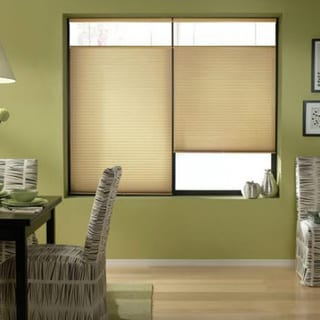 Cordless Top Down Bottom Up Cellular Shades in Leaf Gold (44 to 44.5 Inches Wide)