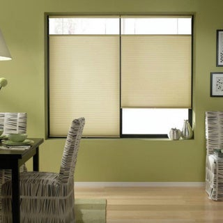 Cordless Top-down Bottom-up Ivory Beige Cellular Shades 44 to 44.5-inch Wide