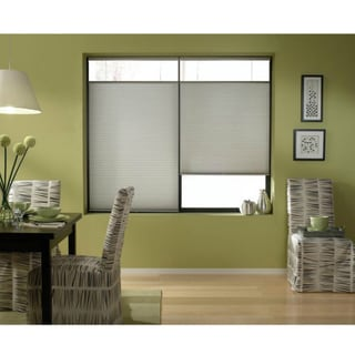 First Rate Blinds Cordless Top Down Bottom Up Cellular Shades in Silver (44 to 44.5 Inches Wide)