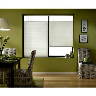 First Rate Blinds Cordless Top Down Bottom Up Cellular Shades In Cool White (44 to 44.5 Inches Wide)