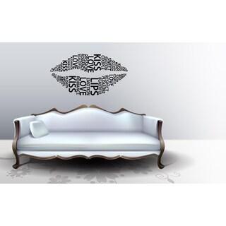 lips Kiss Love Romance Wall Art Sticker Decal
