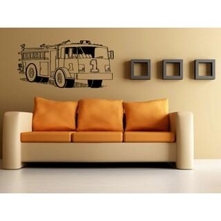 Fire truck #1 Wall Art Sticker Decal