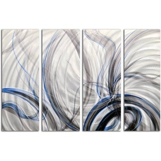 Handmade 4-piece Swirl Metal Wall Art Sculpture