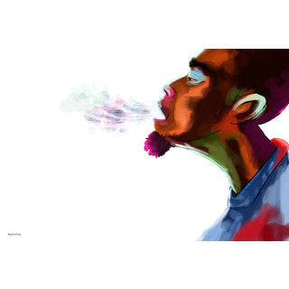 Maxwell Dickson 'Guy Breath' Modern Canvas Wall Art