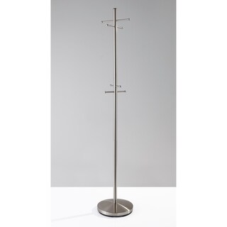 Minimalist Brushed Steel Coat Rack