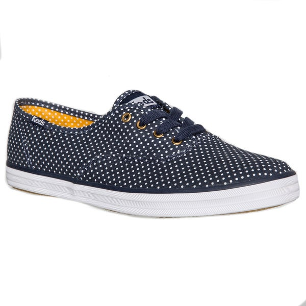 067c7202fcd26 Shop Keds Women s Champion Navy Micro Dot Sneakers - Free Shipping ...