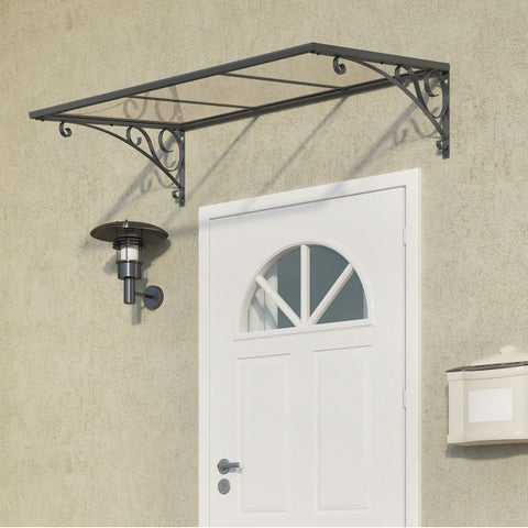 Palram Venus 1350 Grey/ Clear Door Awning