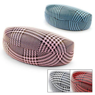 Mix Houndstooth Hard Cover Sunglasses Case