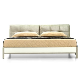 Leather Cushioned Queen Bed
