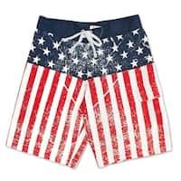 USA Distressed Patriotic American Flag Boardshorts
