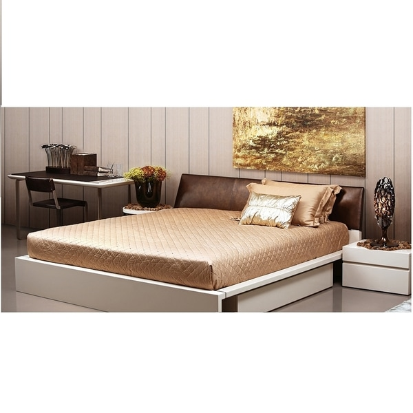 High-end Levo Leather Headboard Drawer Storage Bed  sc 1 st  Overstock.com & Shop High-end Levo Leather Headboard Drawer Storage Bed - Free ...