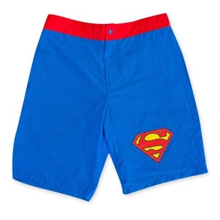Superman Men's Blue Board Shorts
