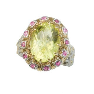 One-of-a-kind Michael Valitutti Ouro Verde and Pink Sapphire