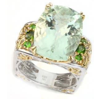 One-of-a-kind Michael Valitutti Green Amethyst Ring