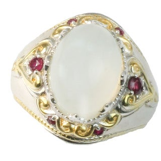 One-of-a-kind Michael Valitutti Moonstone Ring