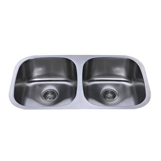Bekjo BD820 32-inch Undermount Double Even (50/50) Bowl 16 gauge Stainless Steel Kitchen Sink
