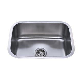 Bekjo BS584 DUO 23-inch Undermount Single Bowl 18 gauge Stainless Steel Kitchen Sink