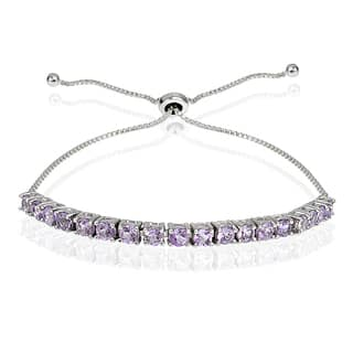 Glitzy Rocks Sterling Silver Birthstone Adjustable Slider Bracelet (Option: Ruby)|https://ak1.ostkcdn.com/images/products/11416761/P18380102.jpg?impolicy=medium