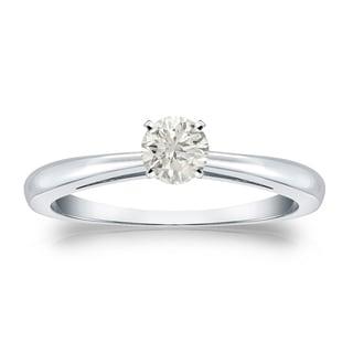 Auriya 18k Gold 1/4ct TDW Round Diamond Solitaire Engagement Ring (J-K, I1-I2)