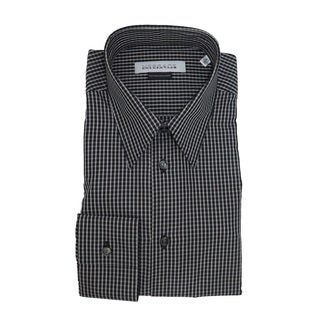 Versace Collection Men's Black/ White Gingham Shirt