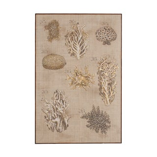 Guildmaster Coral and Sea Urchin Plate Wall Art