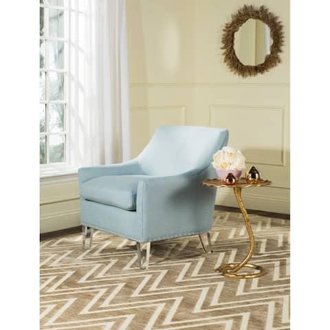 "SAFAVIEH Wylder Teal/ Clear Club Chair - 31.3"" x 32.3"" x 31.9"""