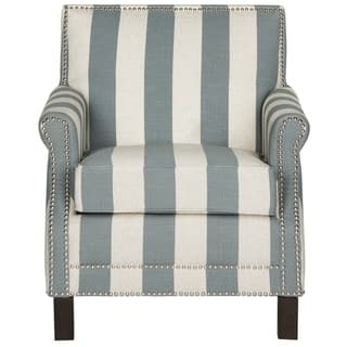 striped living room chairs. Safavieh Easton Grey  White Stripe Silver Nail Heads With Awning Stripes Club Chair Accent Chairs Striped Living Room For Less Overstock com