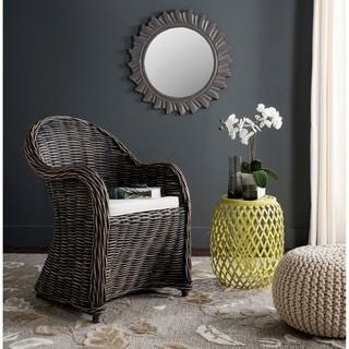 Safavieh Callista Black Wash Wicker Club Chair