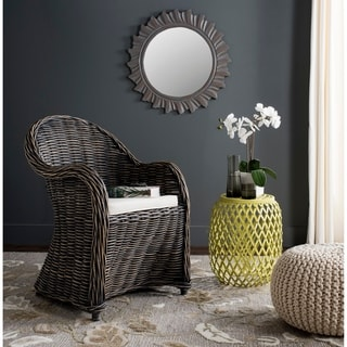 """Link to Safavieh Callista Black Wash Wicker Club Chair - 24"""" x 26"""" x 35"""" Similar Items in Living Room Chairs"""