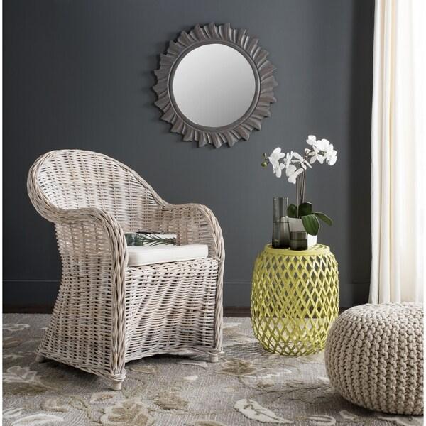 Shop Safavieh Callista White Washed Wicker Club Chair On