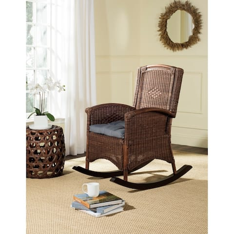"SAFAVIEH Verona Brown Rocking Chair - 25"" x 35.4"" x 40"""