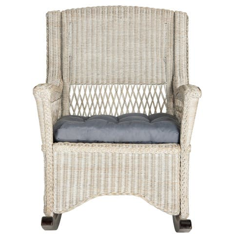 "Safavieh Aria Antique Grey Rocking Chair - 28.3"" x 35.4"" x 40.1"""