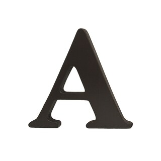 Little Haven Espresso Hanging Wall Letter A