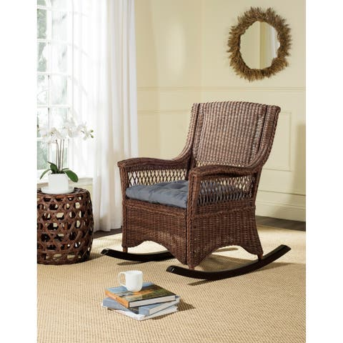 "Safavieh Aria Brown Rocking Chair - 28.3"" x 35.4"" x 40.1"""