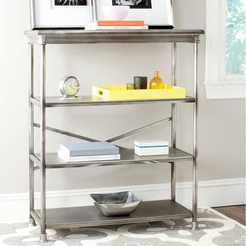 """Safavieh Jacinda Dark Silver Large Bookcase - 38.3"""" x 17"""" x 46"""""""
