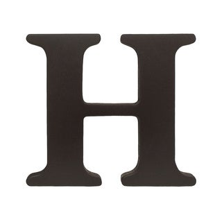 Little Haven Espresso Hanging Wall Letter H